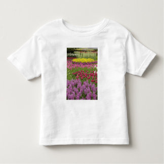 Garden of tulips, daffodils, and hyacinth t-shirt