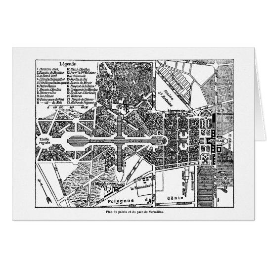 Garden of Versailles Map Card