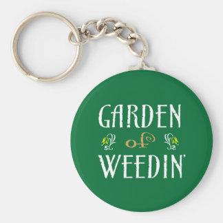 Garden of Weedin' Basic Round Button Keychain