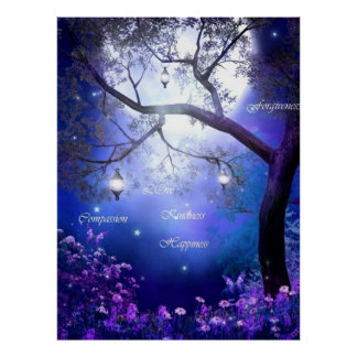 Garden of whispering words by healing love poster