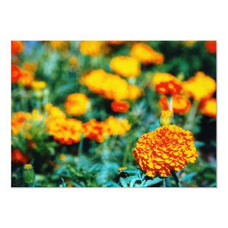 Garden of zinnias card