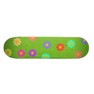 Garden on Green Skate Board