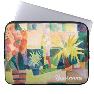 """""""Garden On Lake Thun"""" Art custom laptop sleeves"""