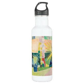 """""""Garden On Lake Thun"""" Art Stainless Steel Water Bottle"""