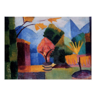 Garden on Lake Thun by August Macke Poster
