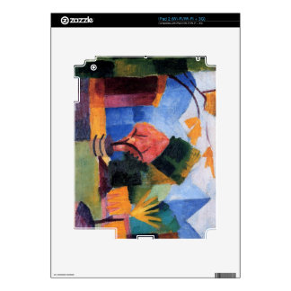 Garden on the lake of Thun by August Macke Skins For The iPad 2
