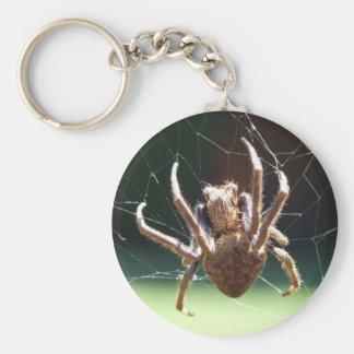 Garden Orb Weaver Spider Key Ring Keychain