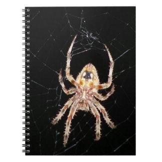 Garden Orb Weaving Spider Spiral Note Books