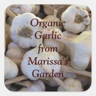 Garden Organic Garlic Jar Label Sticker