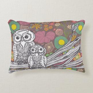 Garden Owls Accent Pillow