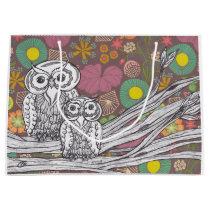 Garden Owls Large Gift Bag