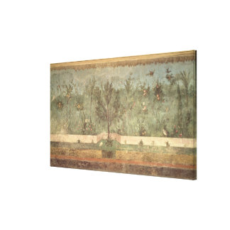 Garden Paintings from the  'Villa of Livia' Stretched Canvas Print