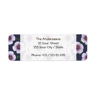 Garden Pale Blue Geranium Flower on any Color Label