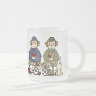 Garden Pals Frosted Glass Coffee Mug