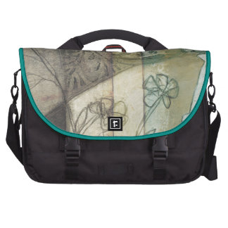 Garden Panel with Leaves, Flowers, and Grass Commuter Bag