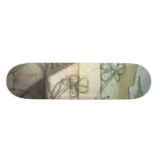 Garden Panel with Leaves, Flowers, and Grass Skateboard Deck