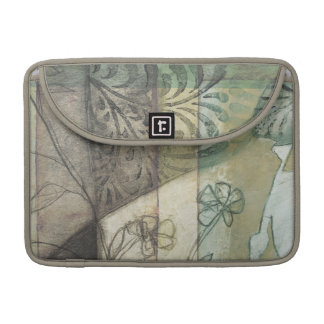 Garden Panel with Leaves, Flowers, and Grass Sleeve For MacBook Pro