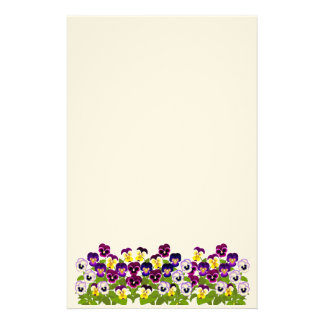 Garden Pansies & Violas Stationery