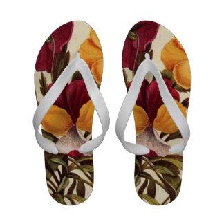 Garden Pansy Flip Flops