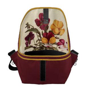 Garden Pansy Messenger Bag