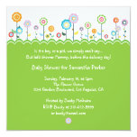 "Garden Party Baby Shower Invitation Card 5.25"" Square Invitation Card"