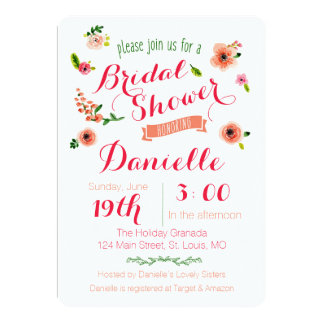 Garden Party Bridal Shower Invitation