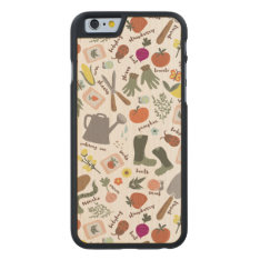 Garden Party Carved Maple Iphone 6 Case at Zazzle