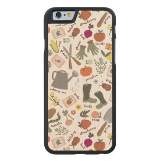 Garden Party Carved Maple iPhone 6 Case