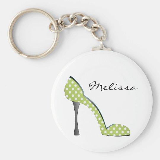 Garden Party Dot Shoe Keychain