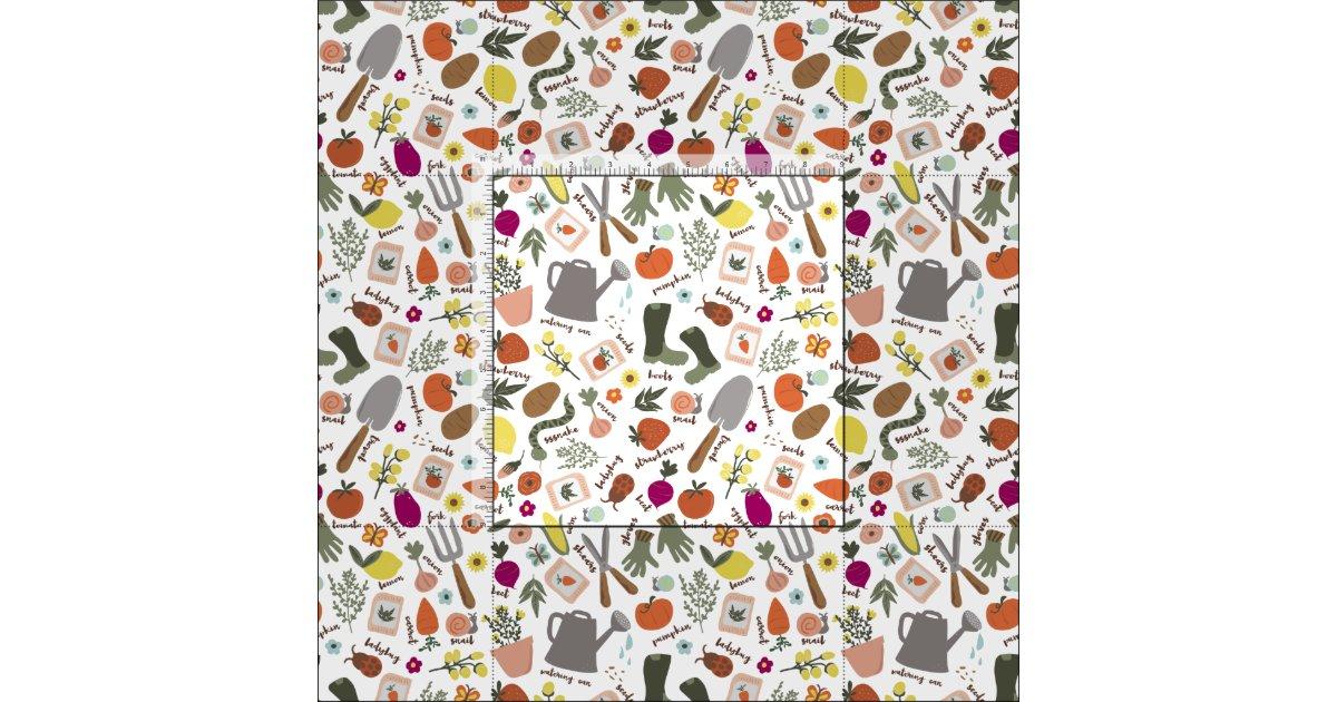 Garden party fabric zazzle for Garden party fabric by blackbird designs