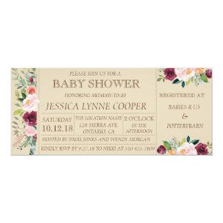 Garden Party Floral Baby Shower Invitation