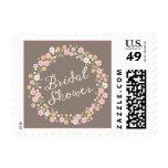 Garden Party Floral Wreath Bridal Shower Blush Stamp
