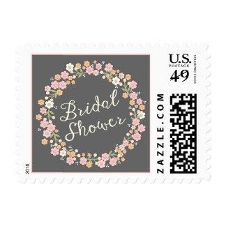Garden Party Floral Wreath Bridal Shower Blush Postage