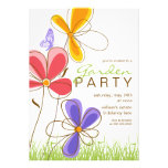 Garden Party | Flowers & Butterfly Invitation