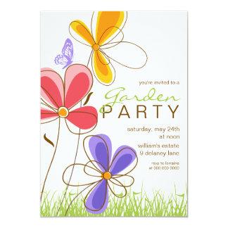 Garden Party | Flowers & Butterfly Invitation