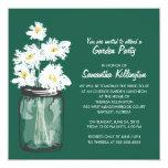 Garden Party Mason Jar & White Daisies Personalized Invitation