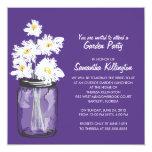Garden Party Mason Jar & White Daisies Invitation