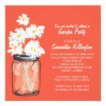 Garden Party Mason Jar & White Daisies Personalized Invite