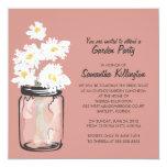 Garden Party Mason Jar & White Daisies Personalized Invites