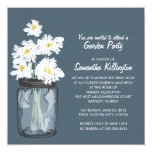 Garden Party Mason Jar & White Daisies Custom Announcements