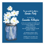 Garden Party Mason Jar & White Daisies Personalized Invitations