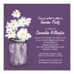 Garden Party Mason Jar & White Daisies Personalized Announcements