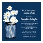 Garden Party Mason Jar & White Daisies Invite