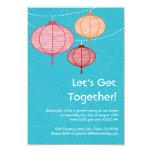 """Garden Party Paper Lantern Invitations 3.5 x 5 3.5"""" X 5"""" Invitation Card"""