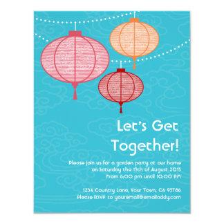 Garden Party Paper Lantern Invitations 4.25 x 6.25