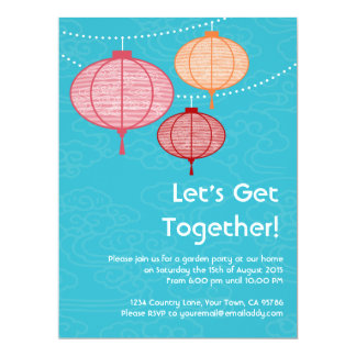 Garden Party Paper Lanterns Invitations