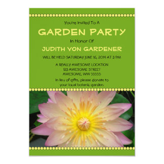 Garden Party Pink and Yellow Water Lily Flower Card
