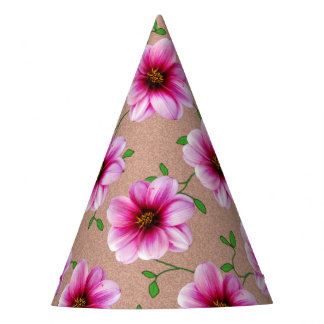 Garden Party Pink Flower on any Color Party Hat