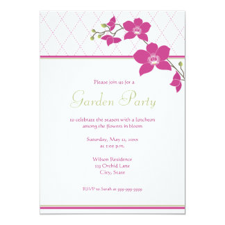 Garden Party Pink Orchid Invitations