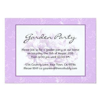Garden Party Purple Floral Invitations
